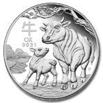 2021 Australian 1 oz Silver Lunar Ox Coin