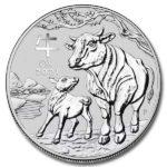 2021 Australian 2 oz Silver Lunar Ox Coin