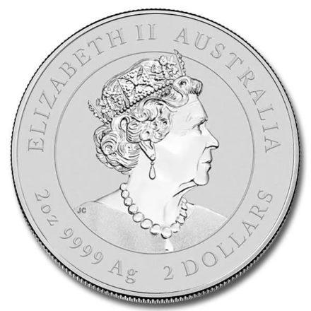 2021 Australian 2 oz Silver Lunar Ox Coin Effigy