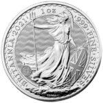2021 British Silver Britannia Coin Obverse