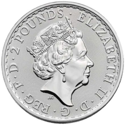 2021 British Silver Britannia Coin Reverse