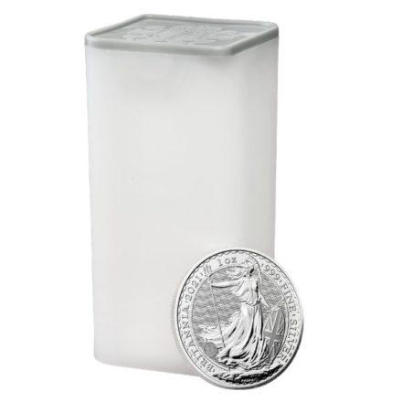 2021 British Silver Britannia Coin Tube of 25
