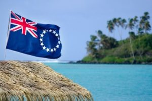 Cook Islands with Flag