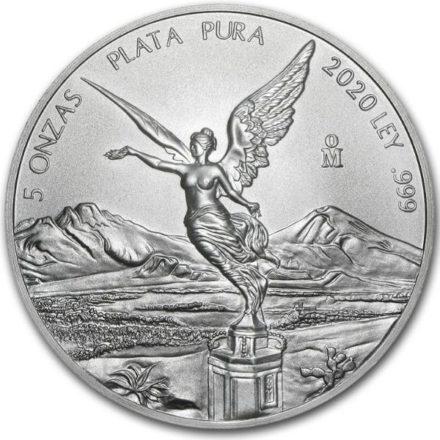 2020 5 oz Mexican Silver Libertad Coin Obverse