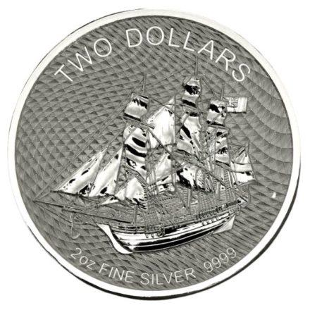 2020 Cook Islands 2 oz Silver HMS Bounty Coin