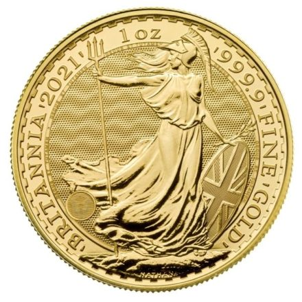 2021 1 oz British Gold Britannia Coin Obverse