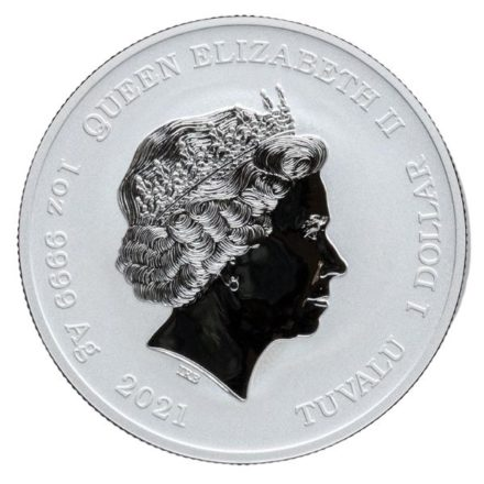 2021 1 oz Tuvalu Silver Wolverine Coin Effigy
