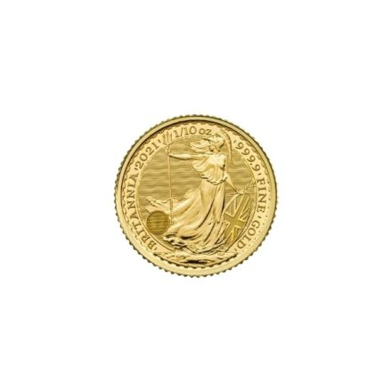 2021 1_10 oz British Gold Britannia Coin Obverse