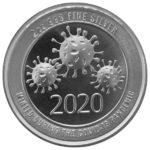 2020 COVID-19 High Relief 2 oz Silver Round