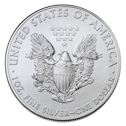 2021 1 oz American Silver Eagle Coin Reverse