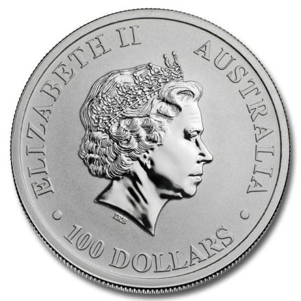 2021 1 oz Australian Platinum Kangaroo Coin Obverse