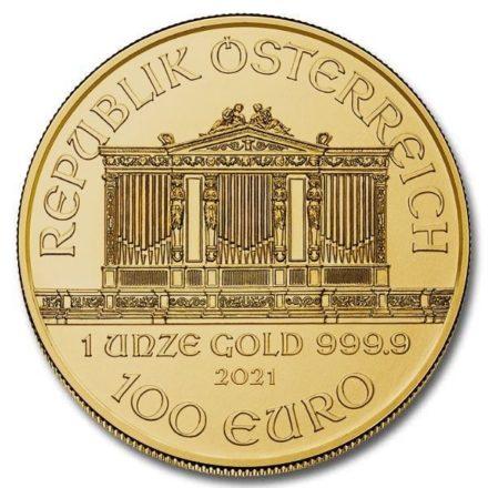 2021 1 oz Austria Gold Philharmonic Coin Obverse