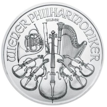 2021 1 oz Austria Silver Philharmonic Coin Reverse