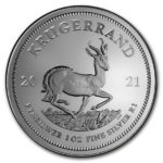2021 1 oz South African Silver Krugerrand Coin Obverse