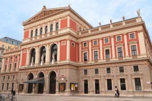 The Wiener Musikverein, home of the Vienna Philharmonic orchestra, Vienna, Austria