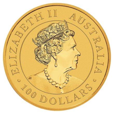 2021 1 oz Australian Gold Kangaroo Coin Effigy