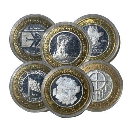 $10 Casino Gaming Token Silver Strike
