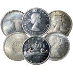1935-1967 Canadian 80% Silver Dollar - AU+