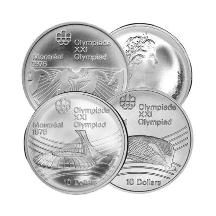 1976 Canadian $10 Montreal Olympic Silver Coin