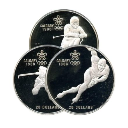 1988 Canadian $20 Calgary Olympic Silver Coin