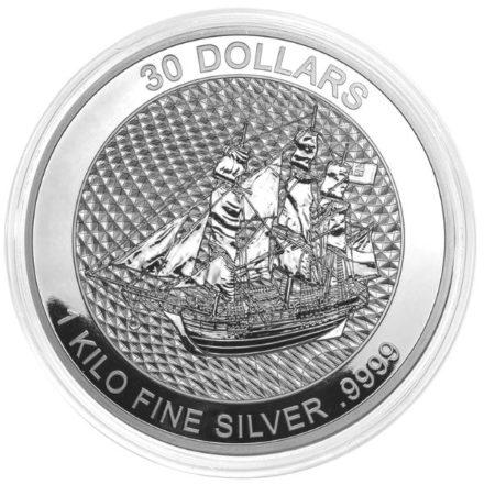 2020 Cook Islands 1 Kilo Silver HMS Bounty Coin (1)