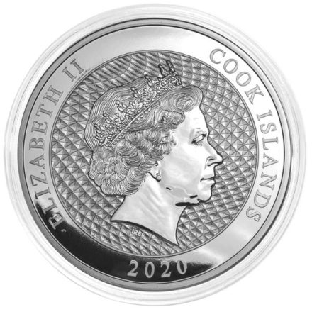 2020 Cook Islands 1 Kilo Silver HMS Bounty Coin Obverse