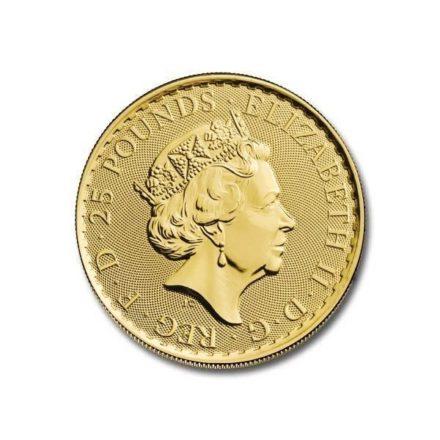 2021 1_4 oz British Gold Britannia Coin Obverse