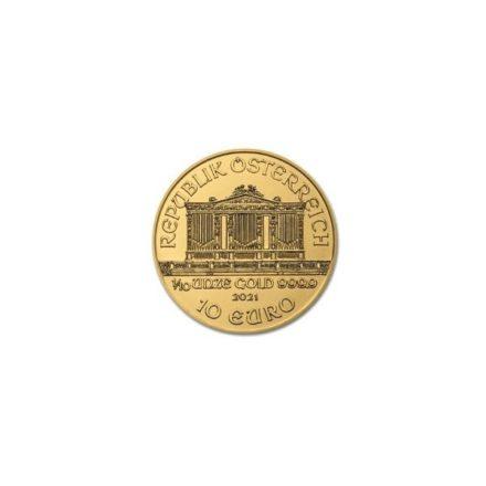 2021 1/10 oz Austria Gold Philharmonic Coin Reverse