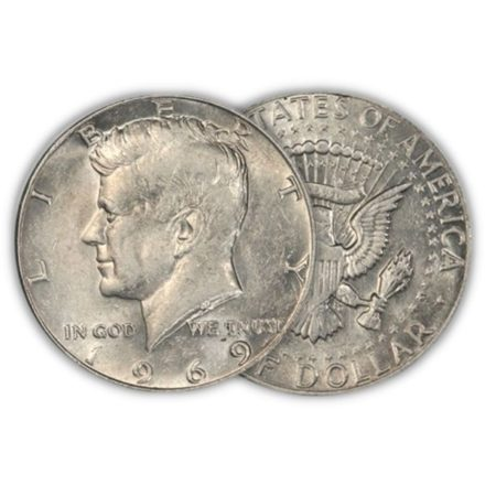 40% Silver Kennedy Half $1 Face Value