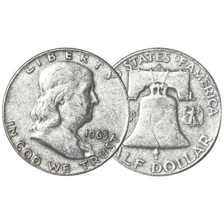 90% Silver Franklin Half Dollars _ $1 Face Value