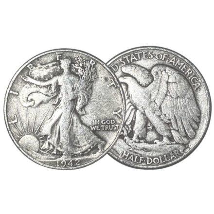 90% Silver Walking Liberty Half Dollars | $1 Face Value