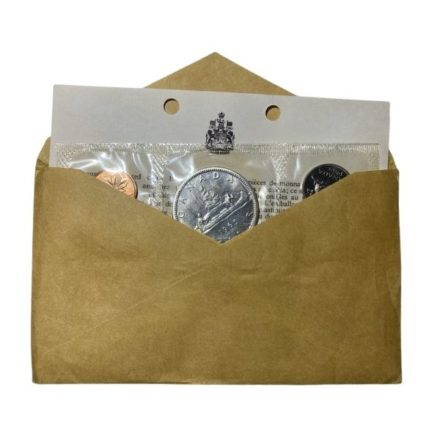 Canadian Silver Proof-Like Set Open Envelope