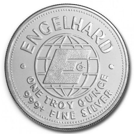 Engelhard Prospector 1 oz Silver Round Big E Reverse
