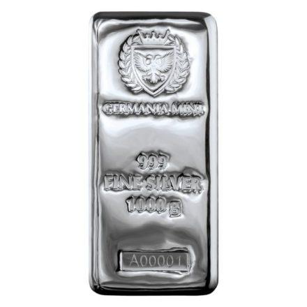 Germania Mint 1 Kilo Cast Silver Bar