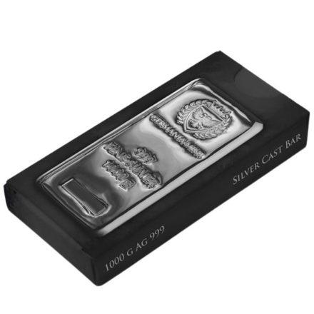 Germania Mint 1 Kilo Cast Silver Bar Packaging