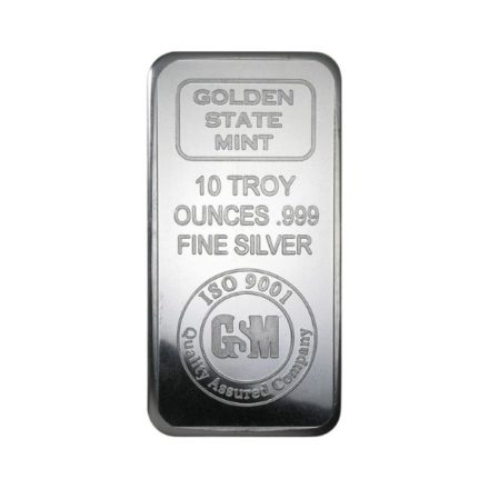 Golden State Mint 10 oz Silver Bar 1