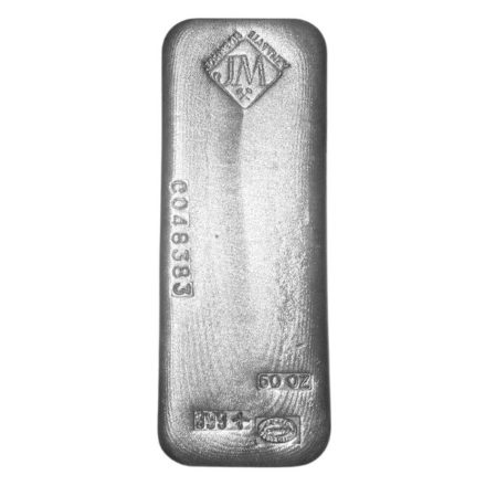 Johnson Matthey 50 oz Silver Bar