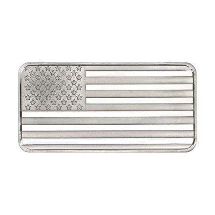 US Flag 10 oz Silver Bar
