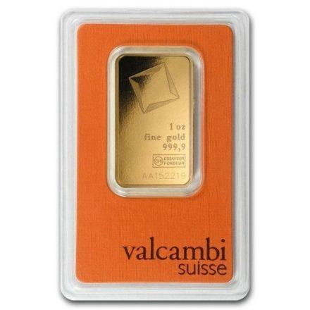 Valcambi 1 oz Gold Bar Serial Number
