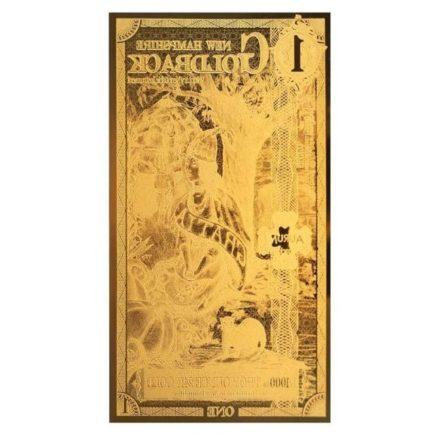 1 New Hampshire Goldback Aurum Gold Note