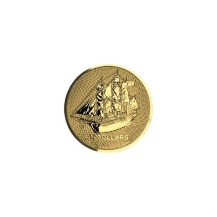 2020 1_10 oz Gold Cook Islands HMS Bounty Coin