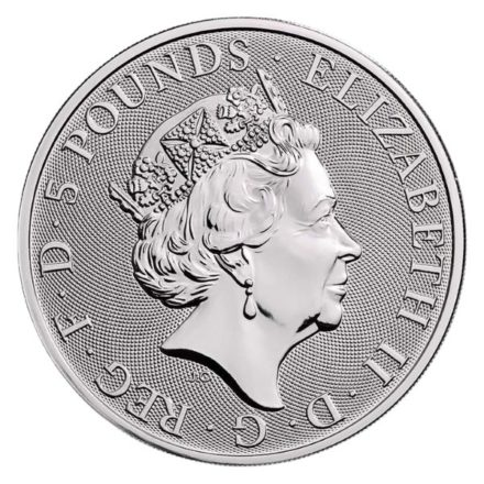 2019 British 2 oz Silver Queen's Beast Yale Coin