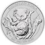 2021 1 Kilo Australian Silver Koala Coin