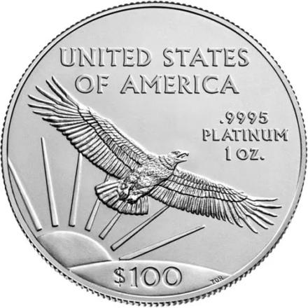 2021 1 oz American Platinum Eagle Coin reverse