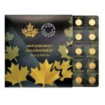 2021 25 Gram Canadian Gold Maplegram - 25x1g