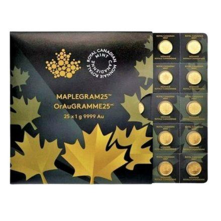2021 25 Gram Canadian Gold Maplegram - 25x1g