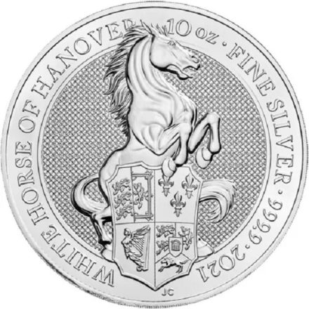 2021 British 10 oz Silver Queen's Beasts White Horse