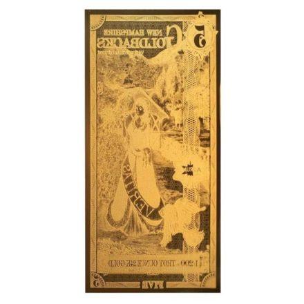 5 New Hampshire Goldback Aurum Gold Note