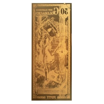 50 New Hampshire Goldback Aurum Gold Note Reverse