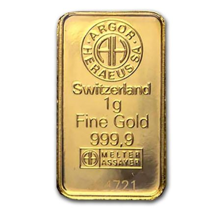 Argor-Heraeus 1 gram Gold Bar
